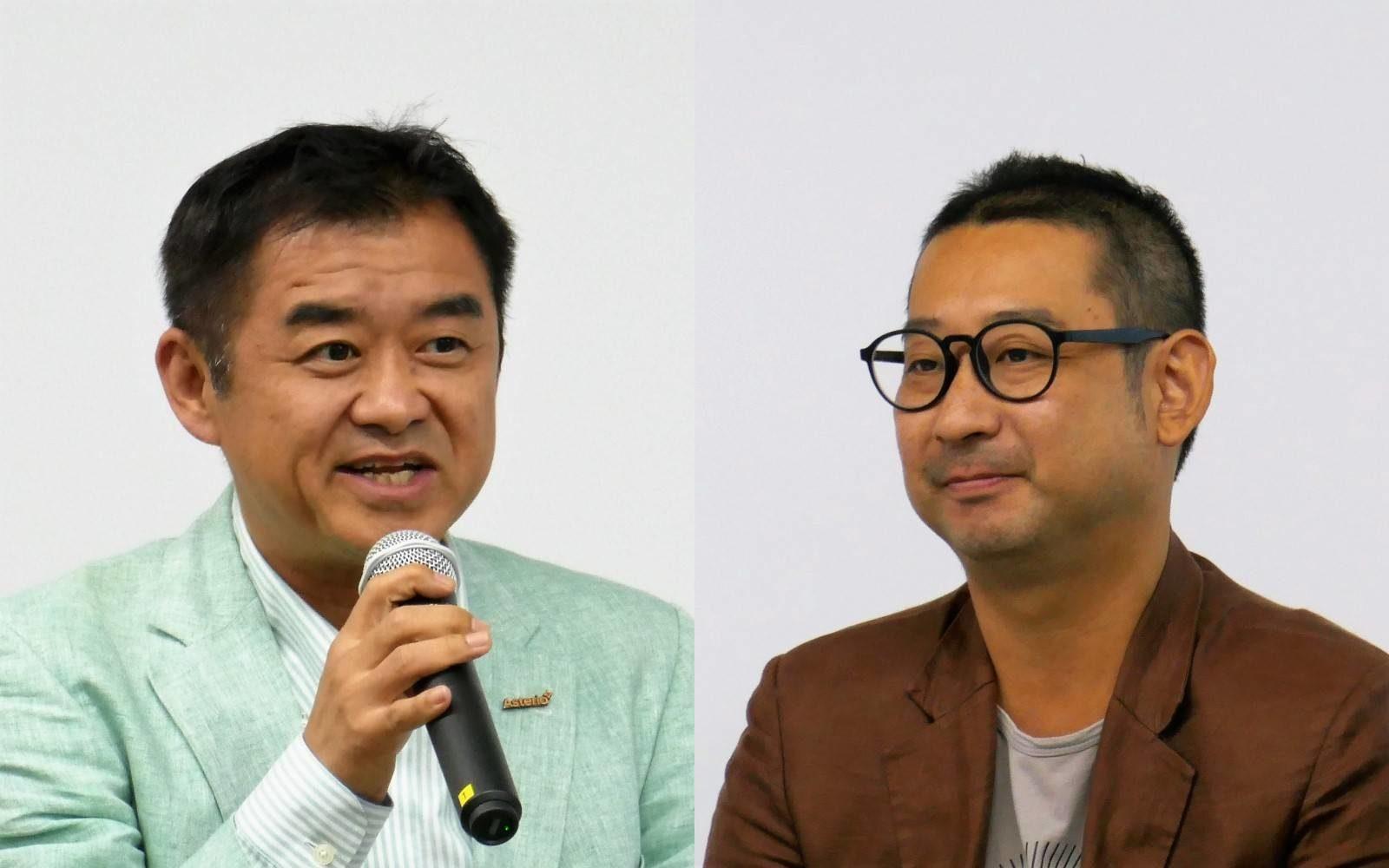 (左)平野洋一郎氏 アステリア株式会社 代表取締役社長 CEO、BCCC代表理事 (右)大石哲之氏 ビットコイン&ブロックチェーン研究所代表、一般社団法人日本デジタルマネー協会